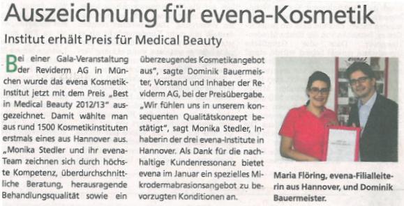 HAZ (Hannoversche Allgemeine Zeitung) 10.01.2013
