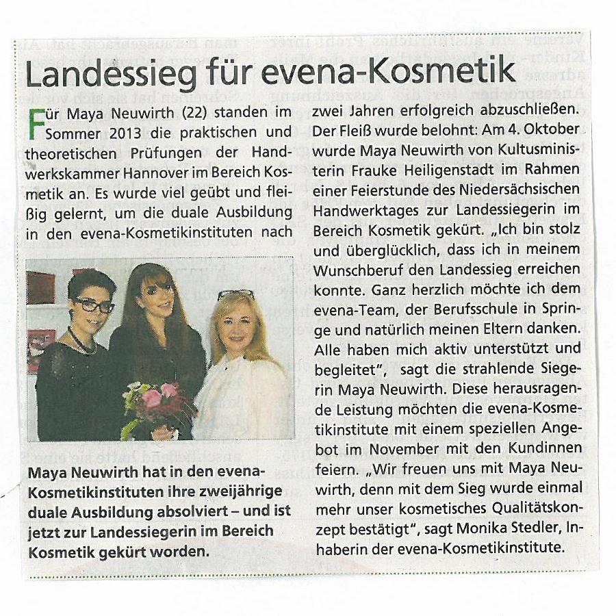HAZ (Hannoversche Allgemeine Zeitung) 07.11.2013