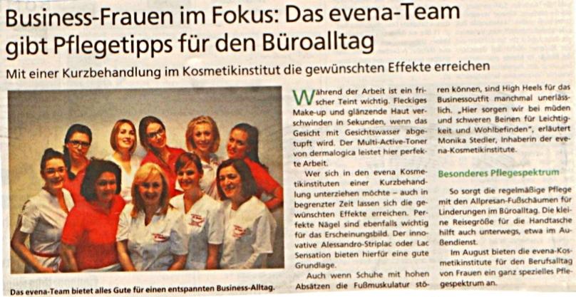 HAZ (Hannoversche Allgemeine Zeitung) 01.08.2013